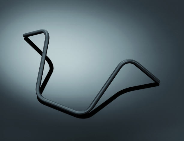 "HANDLEBAR 1""(25MM)APEHANGER BLACK HD"