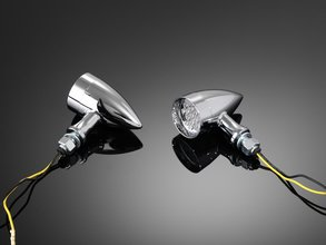 TURNSIGNAL, 'LED TECHNO', CHROME (1PC)