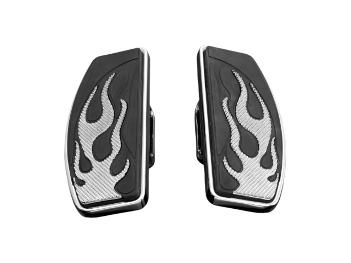 RIDER FLOOR BOARD SET FLAMES VN800