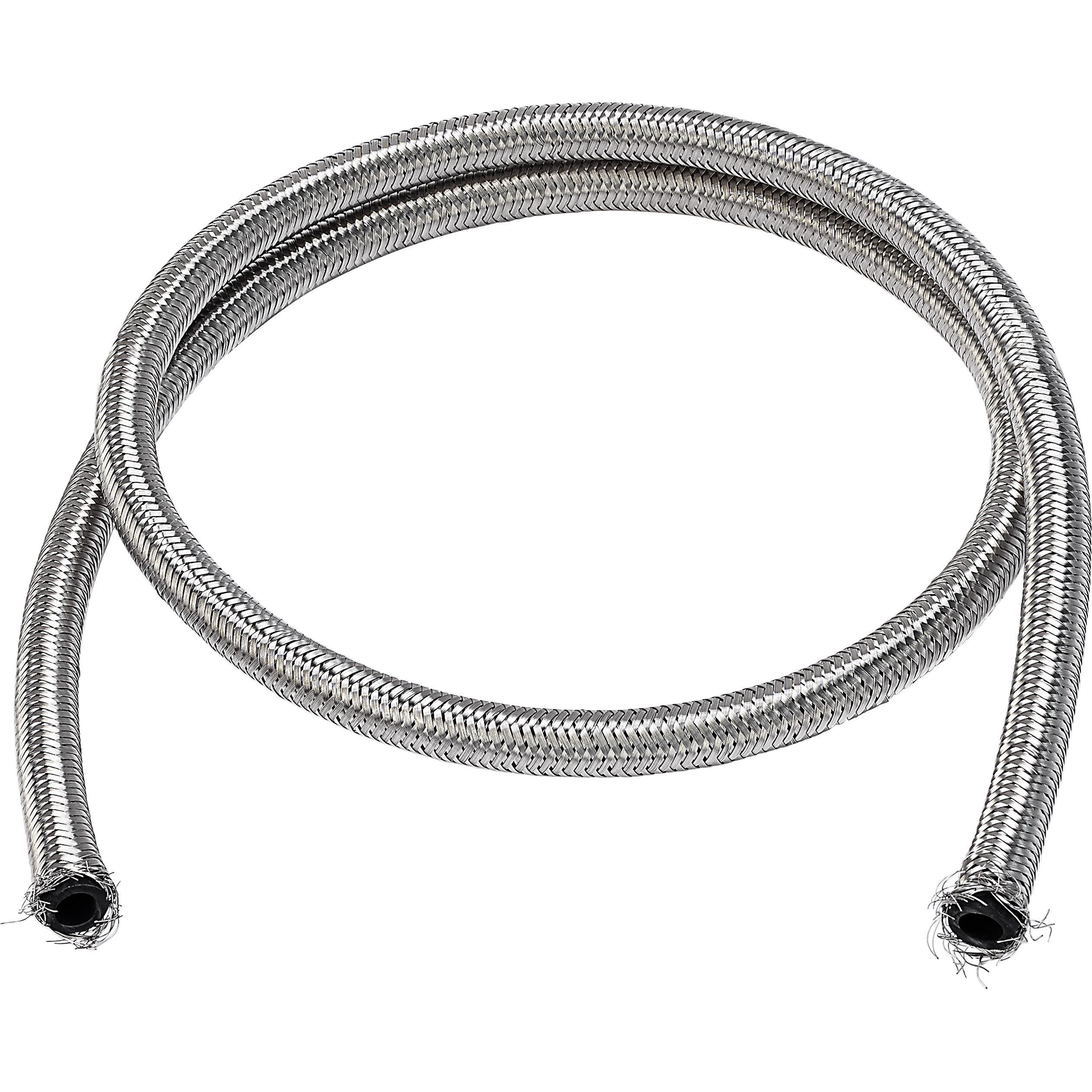 FUEL LINE STEEL BRAIDED 6MM X 1METER