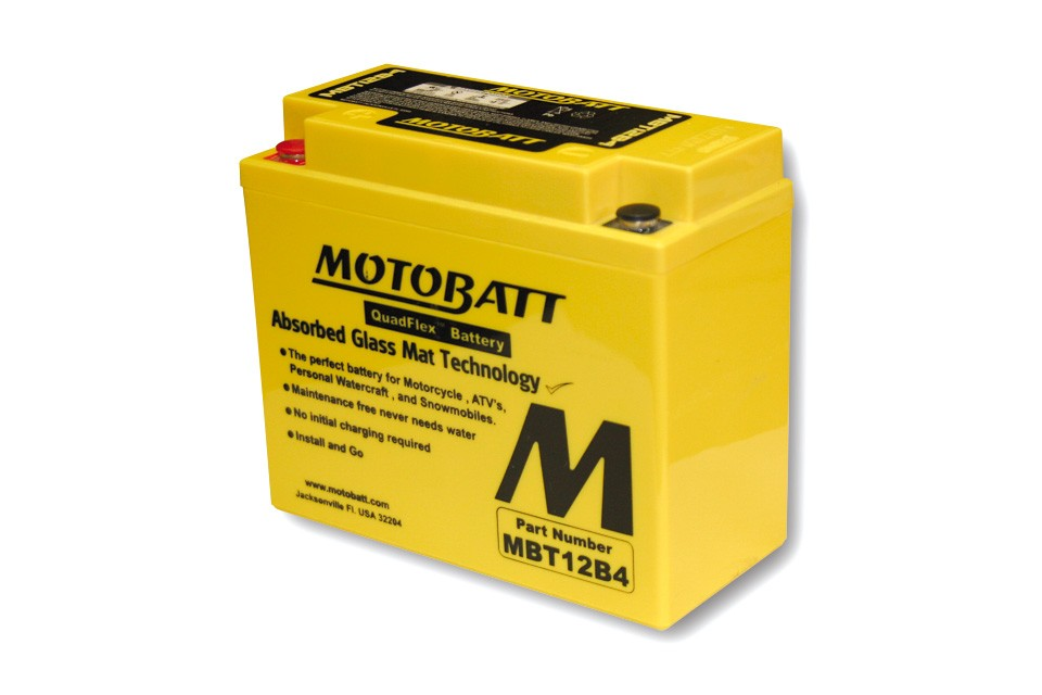 MOTOBATT BATTERY MBT12B4