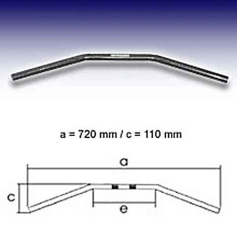 FEHLING DRAG BAR SMALL 1 INCH, 72CM, CHROME