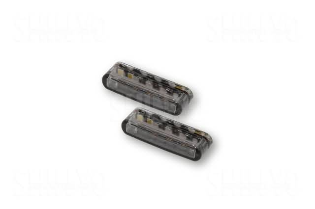 SHIN YO LED TAILLIGHT/INDICATOR SHORTY, SMOKE LENS