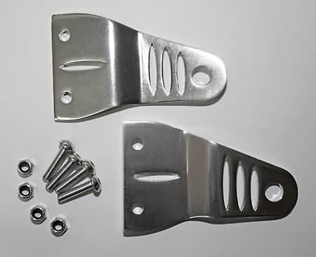 SHIN YO HEADLIGHT BRACKETS, ALU SILVER ANODIZED