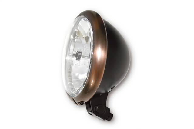 "HEADLIGHT BATES 5,¾"" COPPER/BLACK BOTTOM MOUNT"