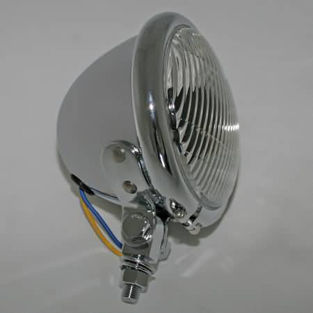 4 1/2 INCH FOG LAMP WITH BULB, BATES-STYLE