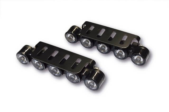 UNIVERSAL LED DAYTIME RUNNING LIGHT WITH 2 X 5 POWER LEDS