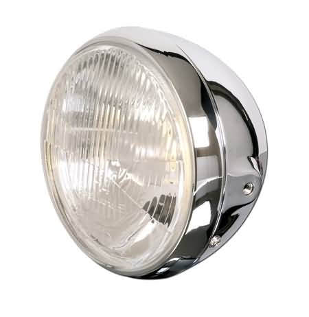 SHIN YO 7 INCH MAIN HEADLIGHT BRITISH STYLE, CHROME