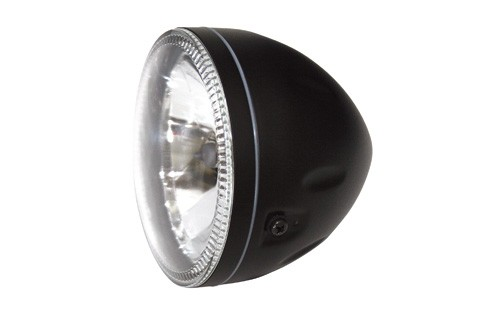5 3/4 HEADLIGHT WITH LED-RING BLACK