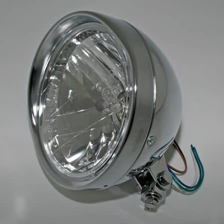 SHIN YO CRUISER CHROME HEADLAMP, 6 1/2 INCH