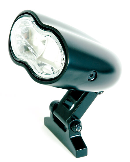 HEADLIGHT DOUBLE OVAL(WHITE) DULL BLACK