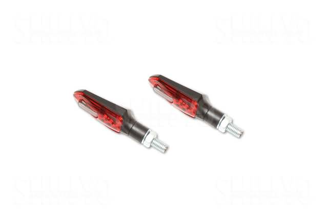 SHIN YO LED TAILLIGHT/INDICATOR ARROWHEAD, RED/SMOKE LENS