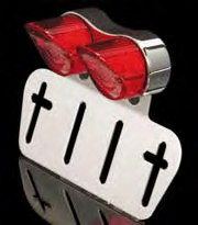 LED TAILLIGHT DOUBLE WITH LICENCE FRAME