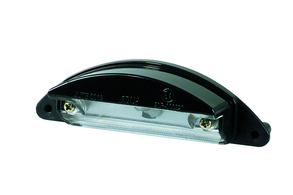 LICENSE PLATE LIGHT, BLACK