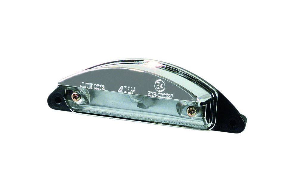 LICENSE PLATE LIGHT, CHROMED