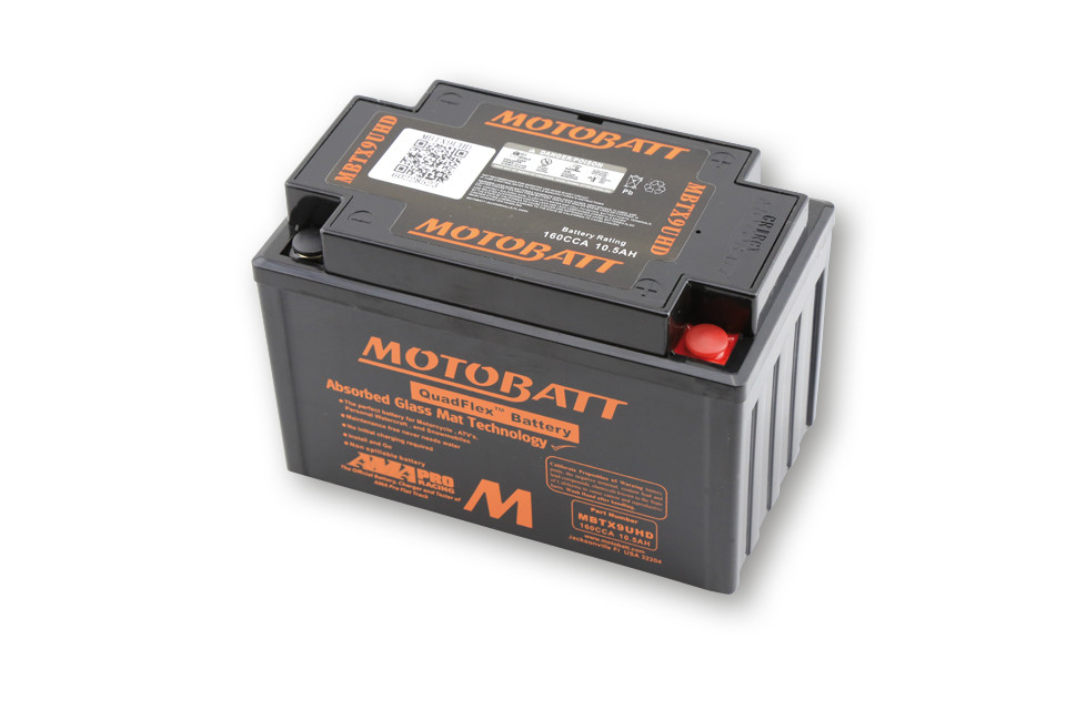 MOTOBATT BATTERY MBTX9UHD, BLACK, 4-PORTS