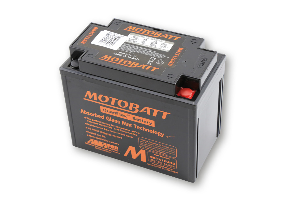 MOTOBATT BATTERY MBTX12UHD, BLACK
