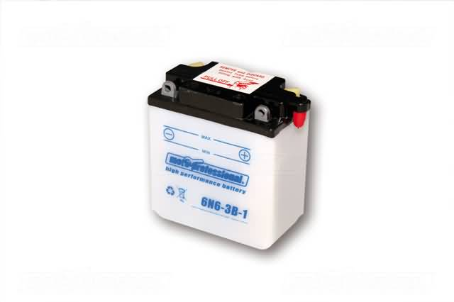 MOTOPROFESSIONAL BATTERY 6N6-3B INCL. ACID-PACKAGE
