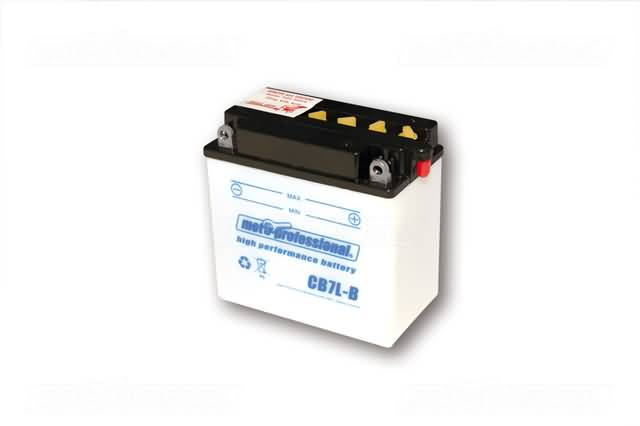 MOTOPROFESSIONAL BATTERY CB 7L-B INCL. ACID-PACKAGE