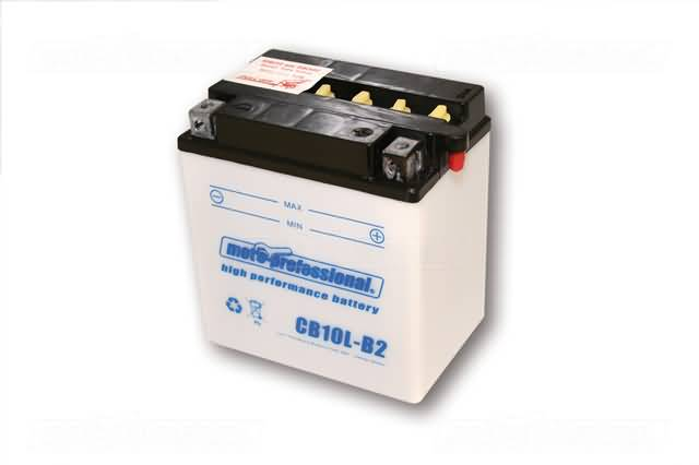 MOTOPROFESSIONAL BATTERY CB 10L-B2 INCL. ACID-PACKAGE
