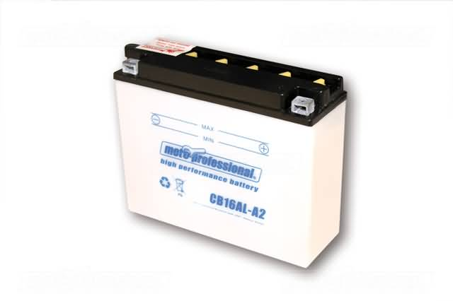 MOTOPROFESSIONAL BATTERY CB 16AL-A2 INCL. ACID-PACKAGE