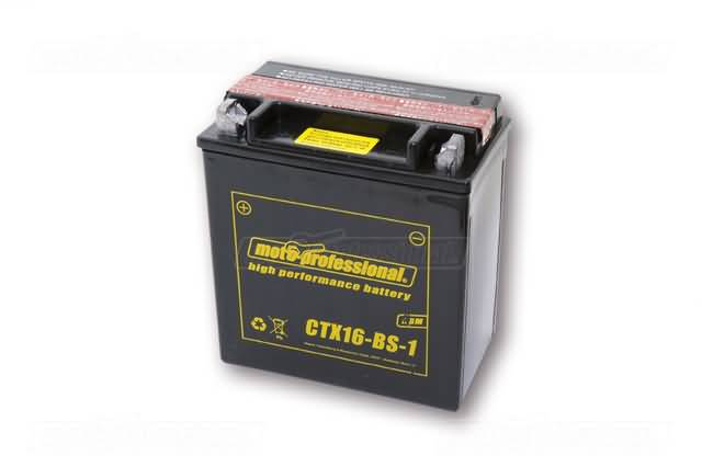 MOTOPROFESSIONAL BATTERY CTX 16-BS-1, MF -INCL.ACID