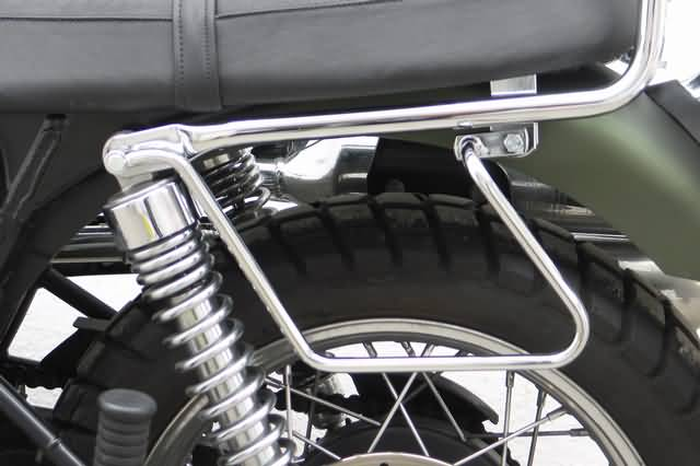 FEHLING SADDLEBAG SUPPORTS TRIUMPH SCRAMBLER, LEFT HAND SIDE