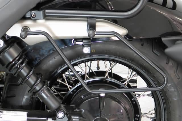 FEHLING SADDLEBAG SUPPORTS HONDA VT 750 C7 SPIRIT, BLACK