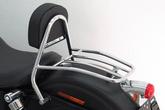 FEHLING DRIVER SISSY BAR WITH BACKREST AND LUGGAGE RACK, HD DYNA