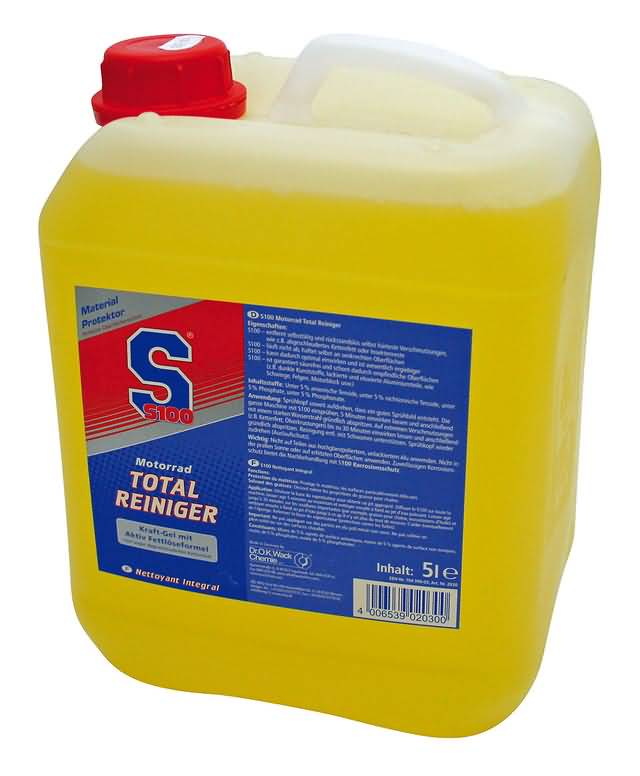 S100 MOTORCYCLE TOTAL CLEANER 5 LITER CANISTER