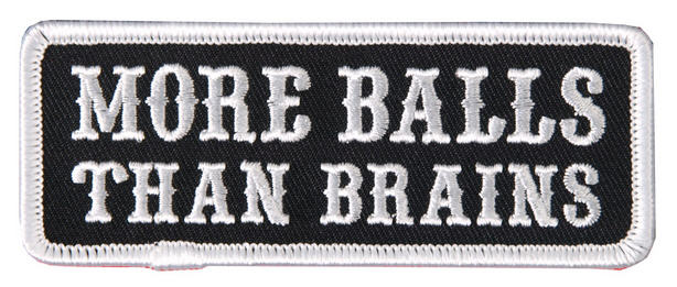 More Balls Than Brains Patch